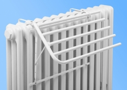 Four-arm dryer for cast iron radiator